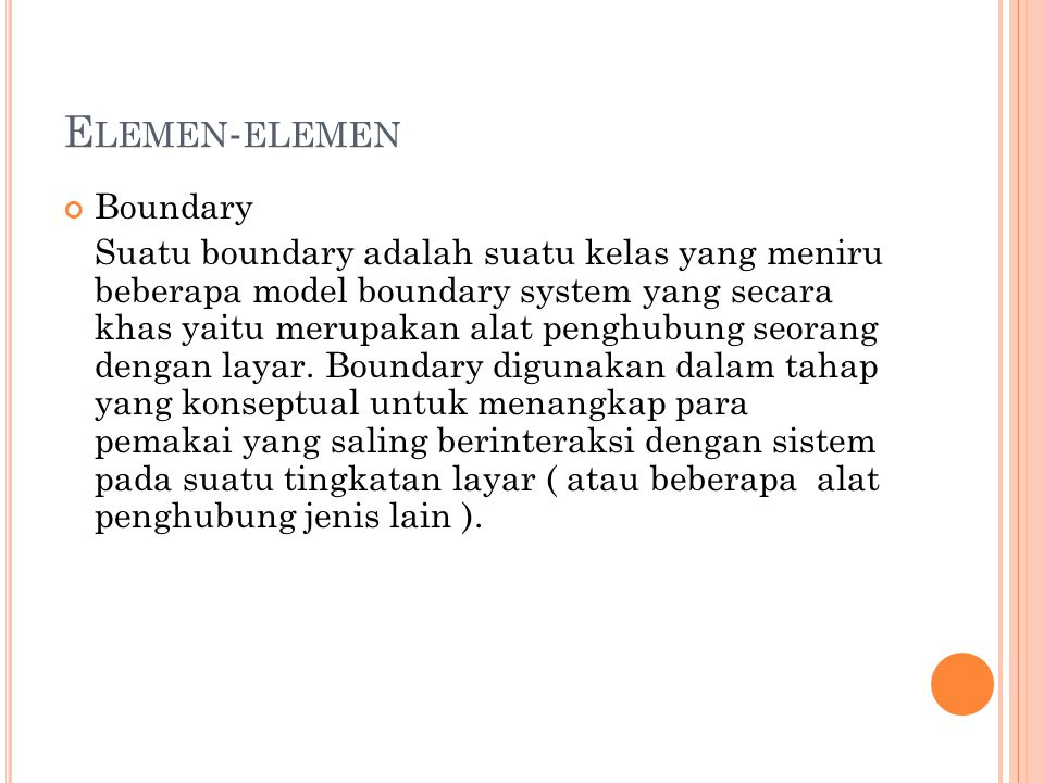 Elemen-elemen Boundary
