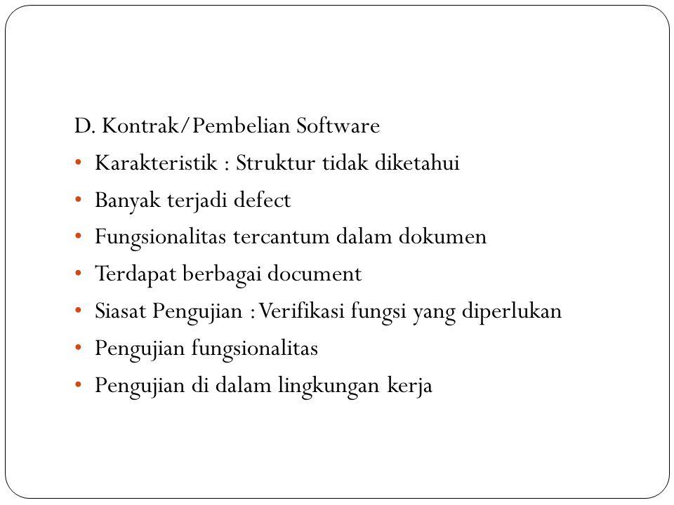 D. Kontrak/Pembelian Software