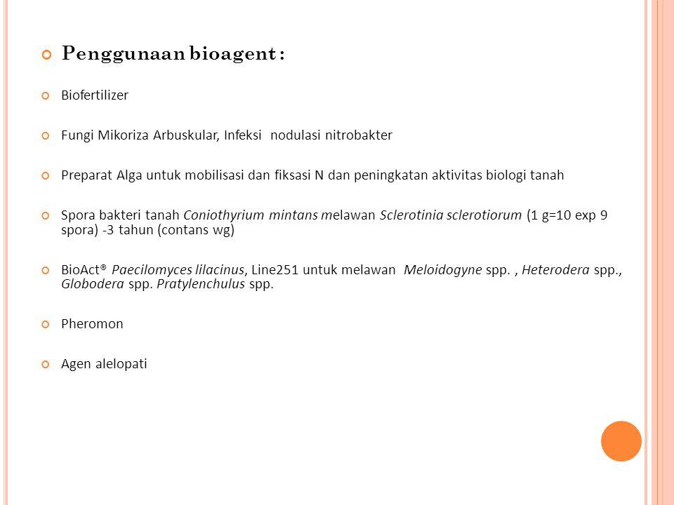 Penggunaan bioagent : Biofertilizer