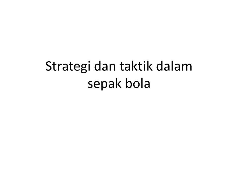 Strategi dan taktik dalam sepak bola