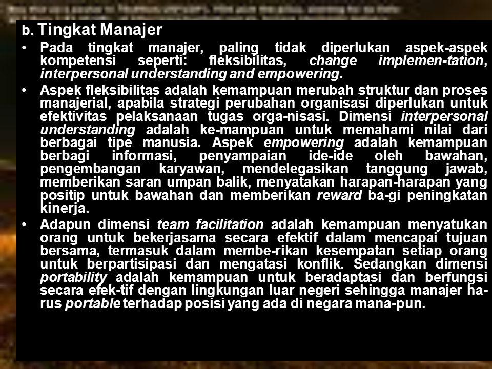 b. Tingkat Manajer