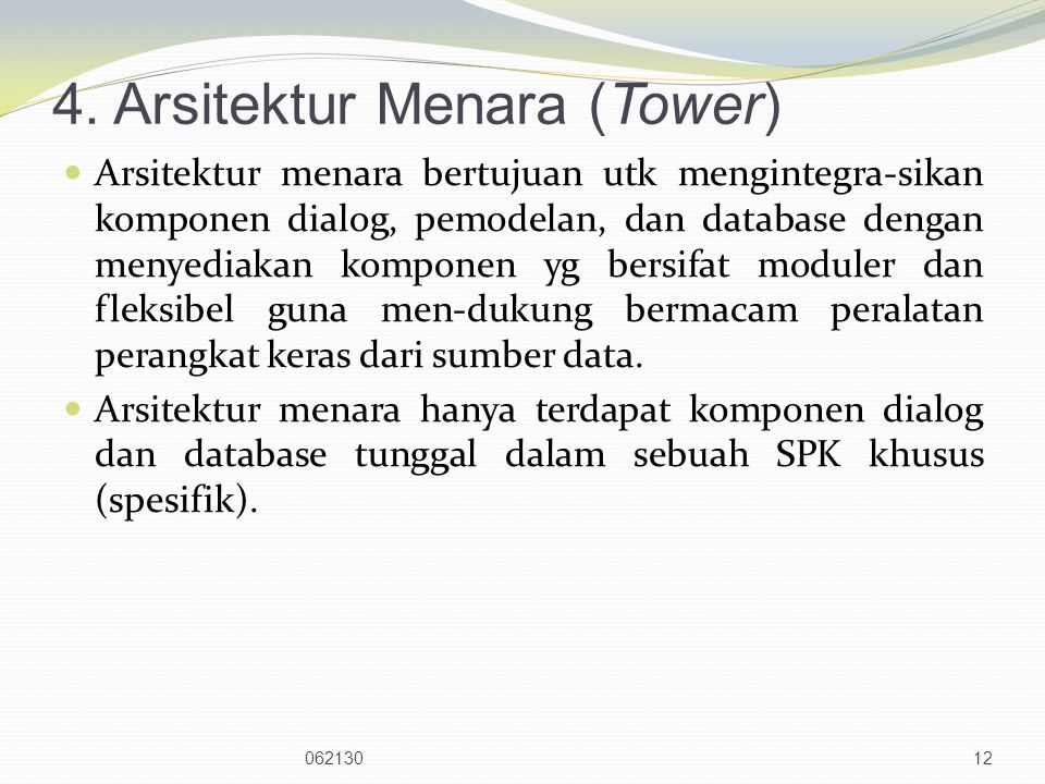 4. Arsitektur Menara (Tower)