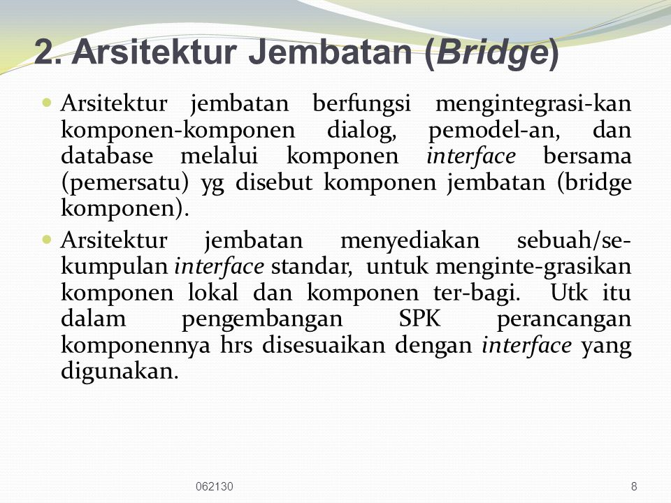 2. Arsitektur Jembatan (Bridge)