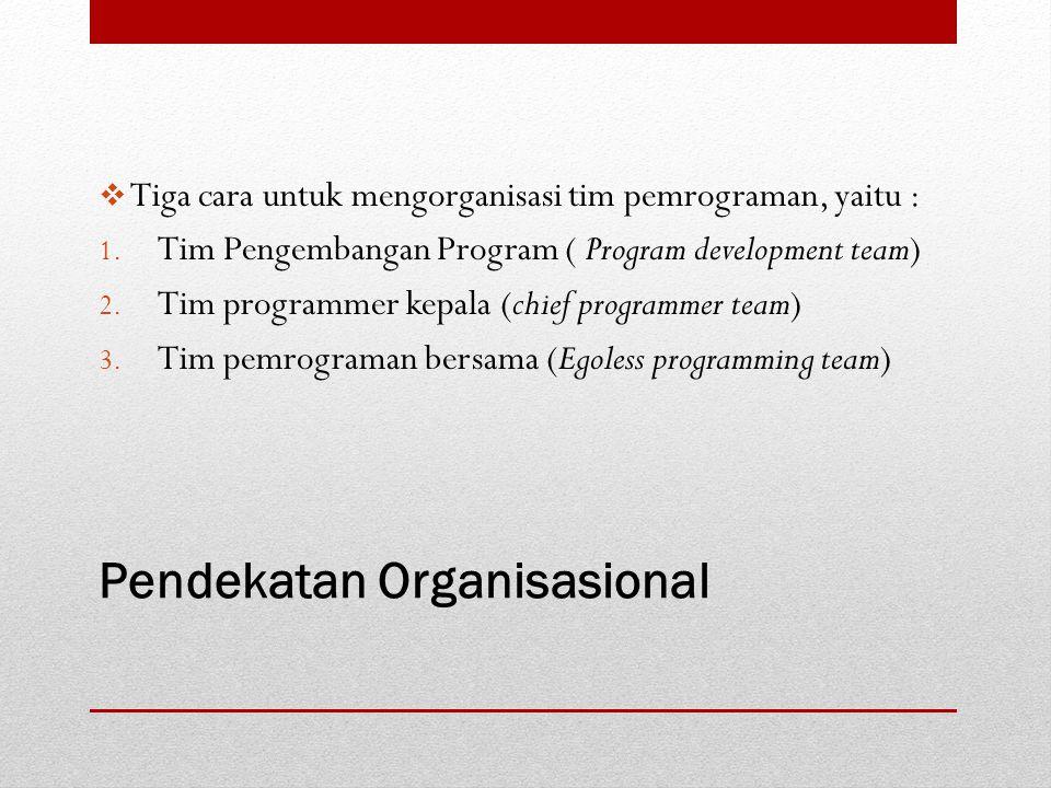Pendekatan Organisasional