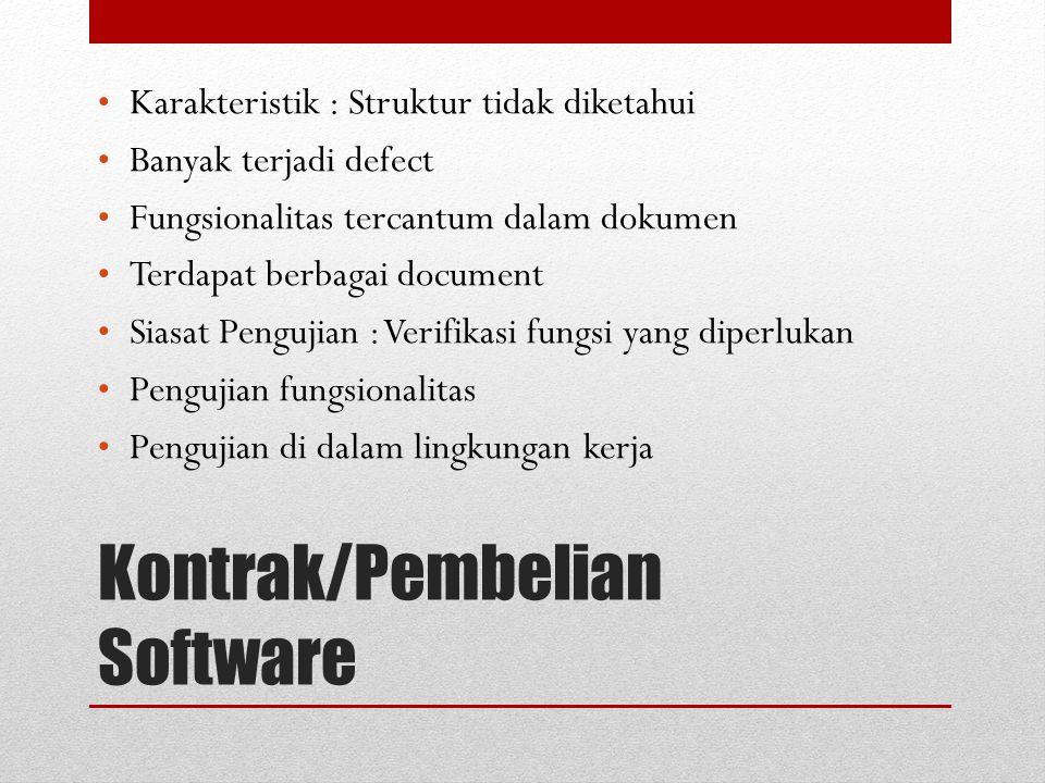 Kontrak/Pembelian Software