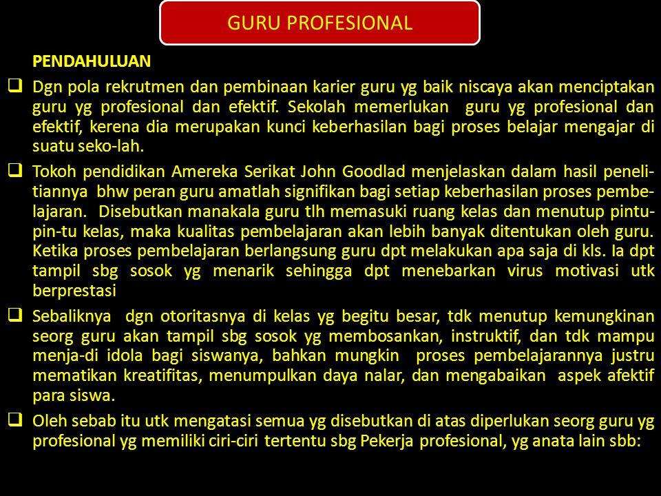 GURU PROFESIONAL PENDAHULUAN
