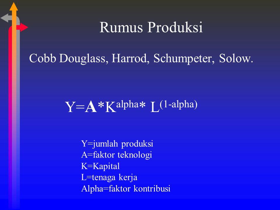 Y=A*Kalpha* L(1-alpha)