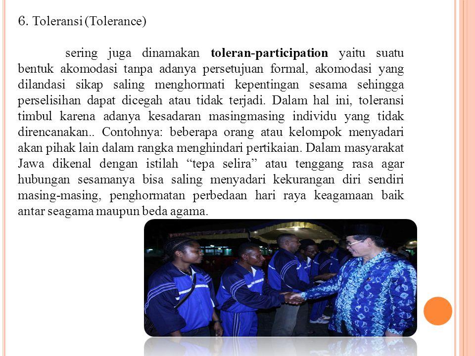 6. Toleransi (Tolerance)