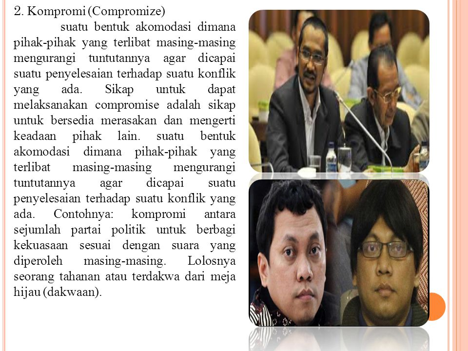 2. Kompromi (Compromize)