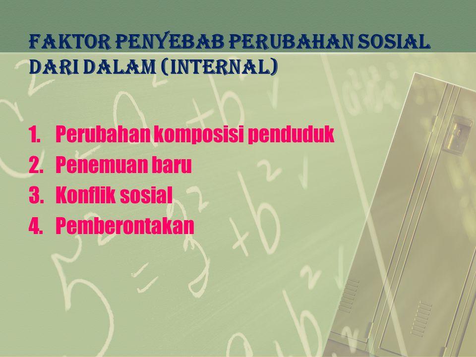 FAKTOR PENYEBAB PERUBAHAN SOSIAL DARI DALAM (internal)