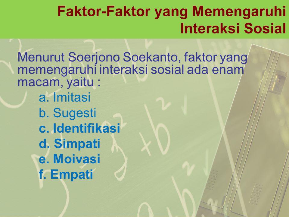 Faktor-Faktor yang Memengaruhi Interaksi Sosial