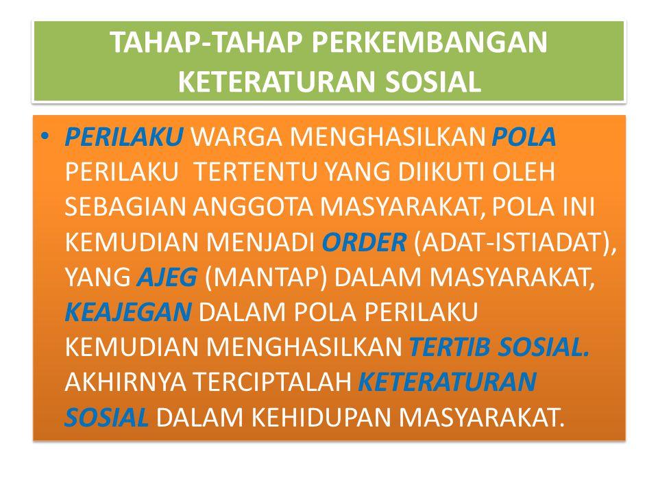 TAHAP-TAHAP PERKEMBANGAN KETERATURAN SOSIAL