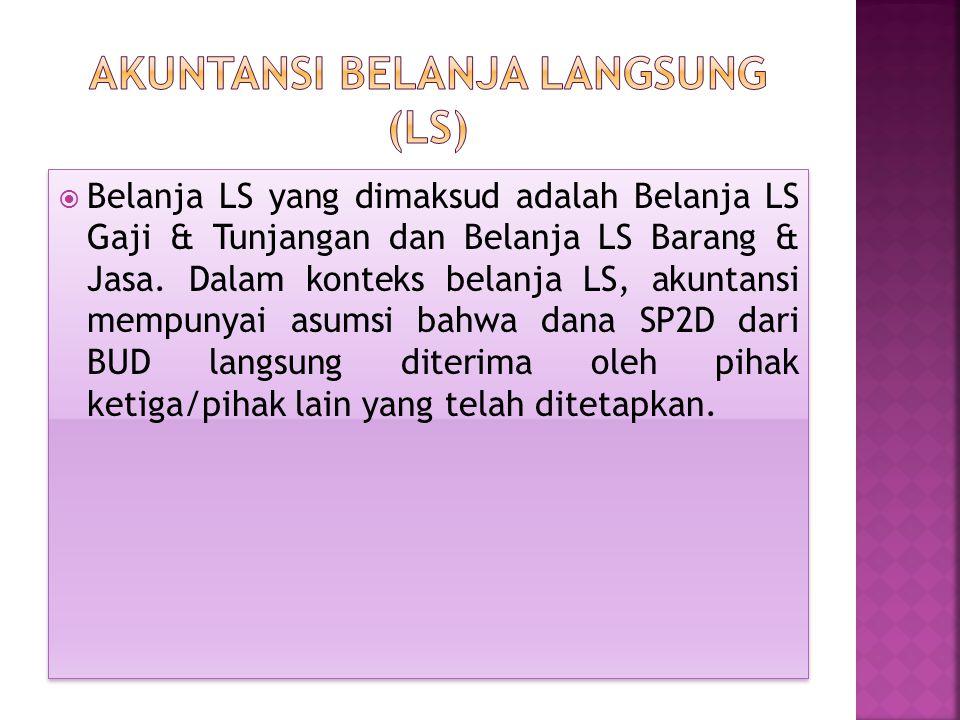 Akuntansi Belanja Langsung (LS)