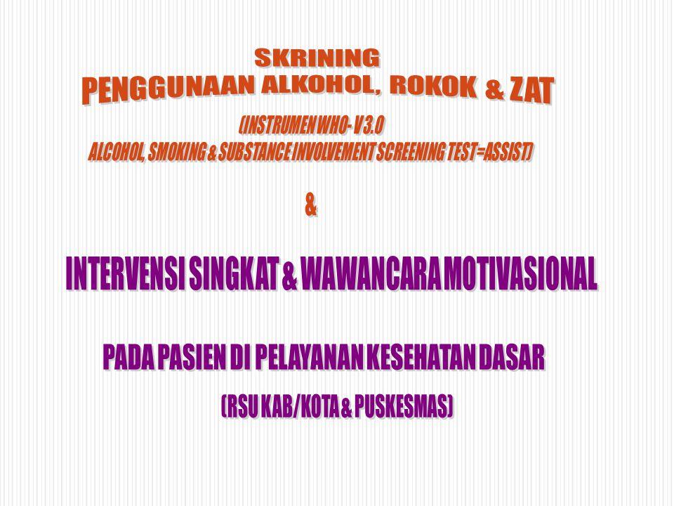 PENGGUNAAN ALKOHOL, ROKOK & ZAT