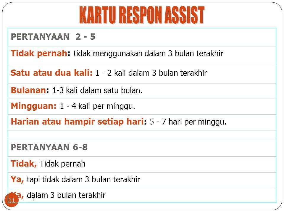 KARTU RESPON ASSIST PERTANYAAN 2 - 5