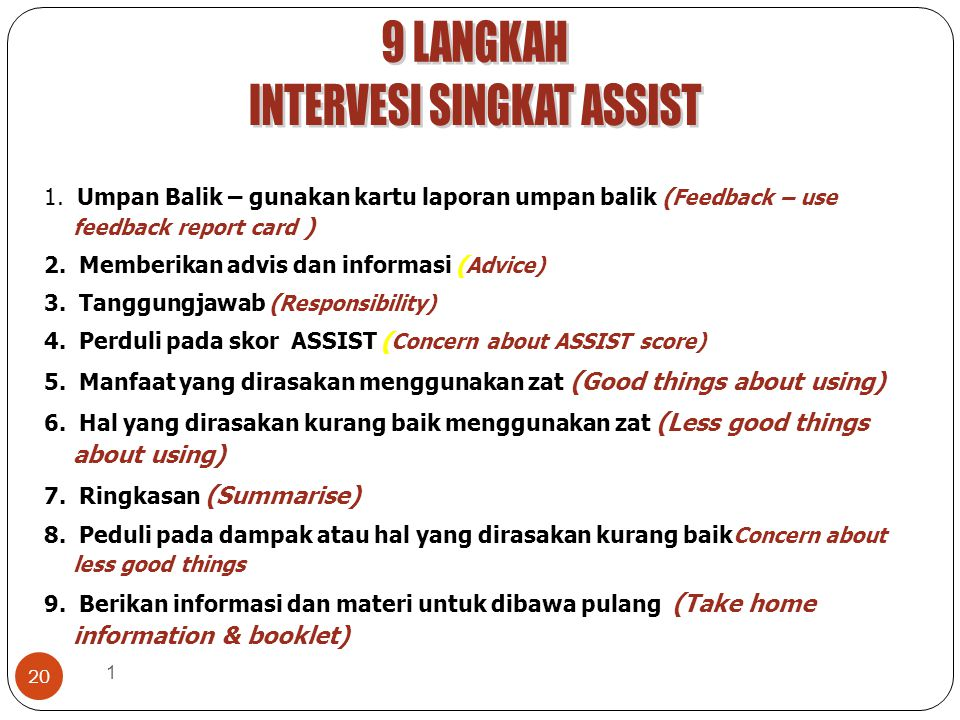 INTERVESI SINGKAT ASSIST