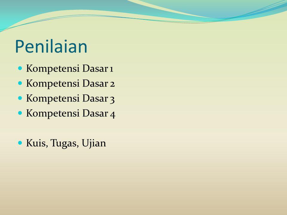 Penilaian Kompetensi Dasar 1 Kompetensi Dasar 2 Kompetensi Dasar 3