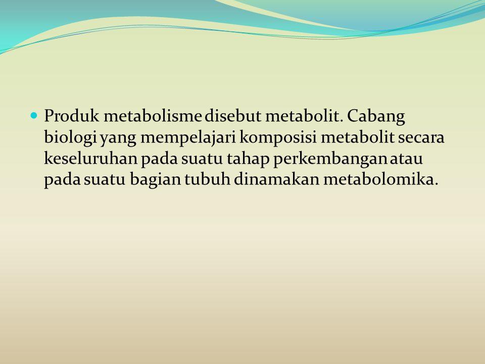 Produk metabolisme disebut metabolit