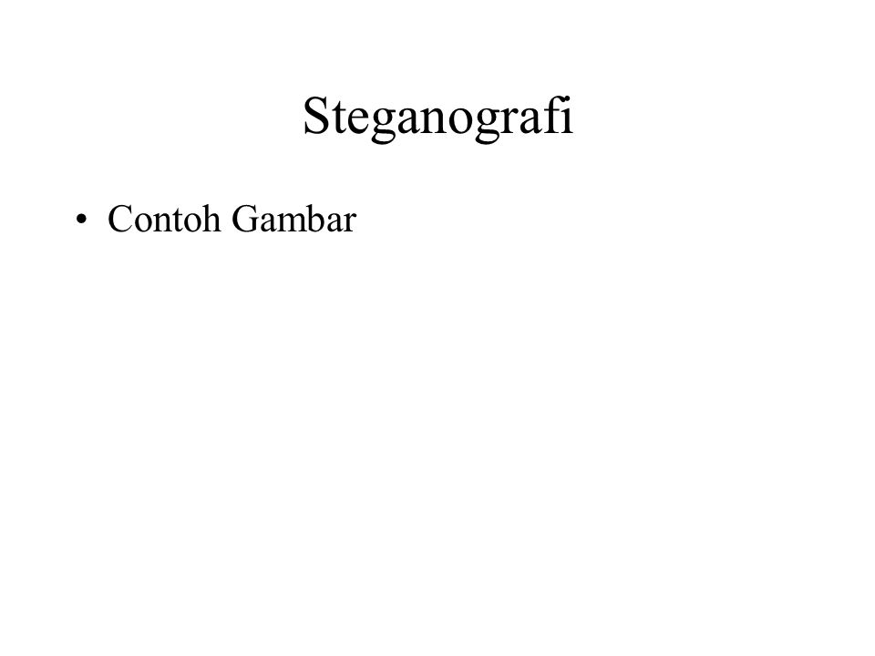 Steganografi Contoh Gambar