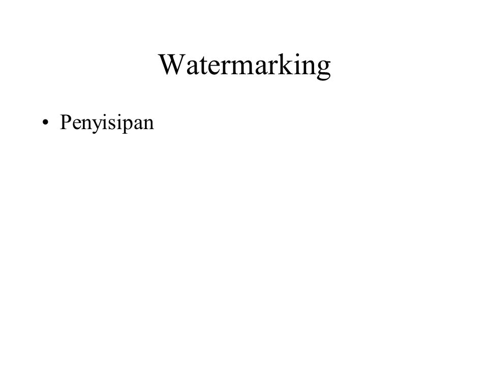 Watermarking Penyisipan