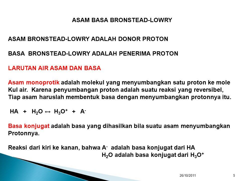 ASAM BASA BRONSTEAD-LOWRY