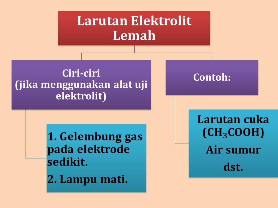 Larutan Elektrolit Lemah
