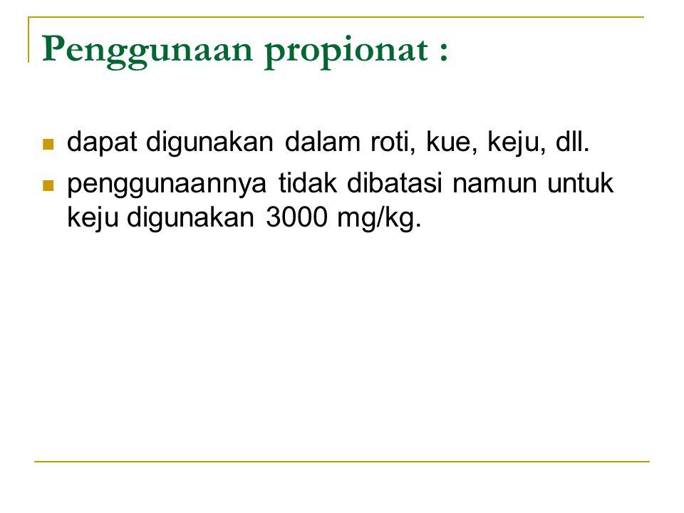 Penggunaan propionat :