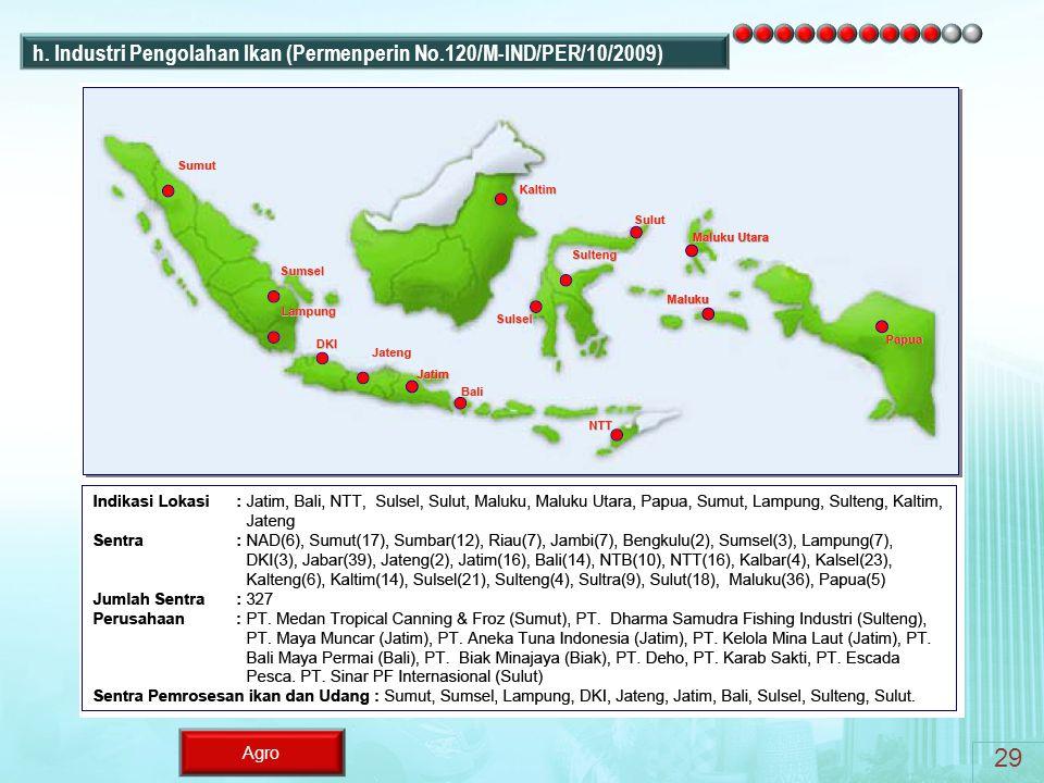 29 h. Industri Pengolahan Ikan (Permenperin No.120/M-IND/PER/10/2009)