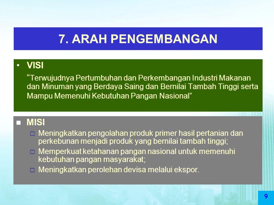 7. ARAH PENGEMBANGAN VISI