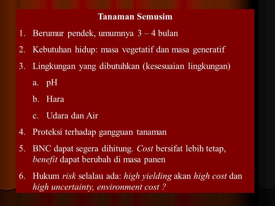 Tanaman Semusim Berumur pendek, umumnya 3 – 4 bulan. Kebutuhan hidup: masa vegetatif dan masa generatif.