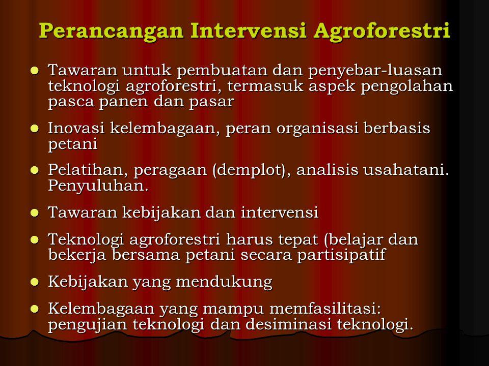 Perancangan Intervensi Agroforestri