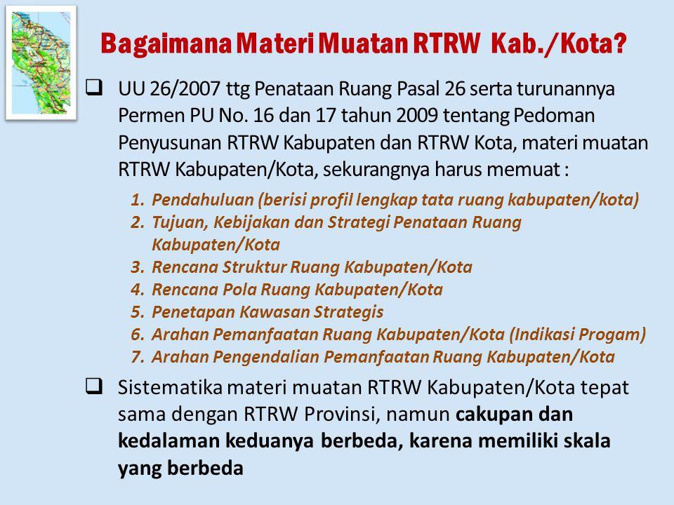 Bagaimana Materi Muatan RTRW Kab./Kota