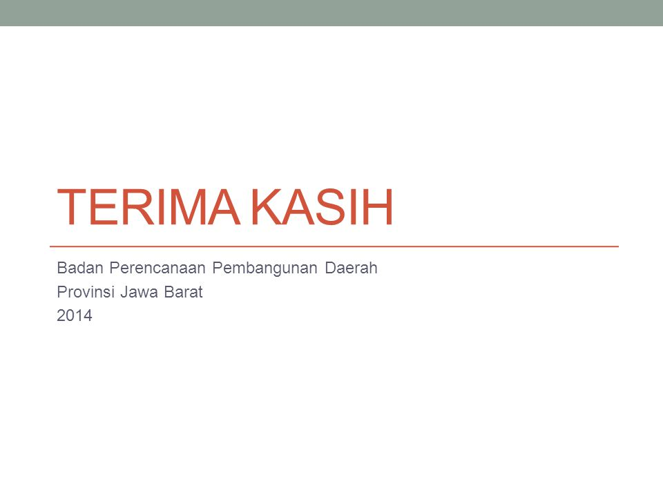 Badan Perencanaan Pembangunan Daerah Provinsi Jawa Barat 2014