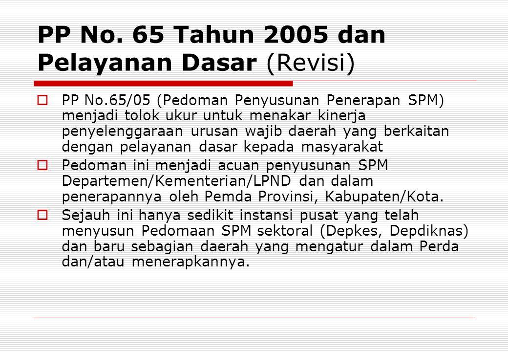 PP No. 65 Tahun 2005 dan Pelayanan Dasar (Revisi)