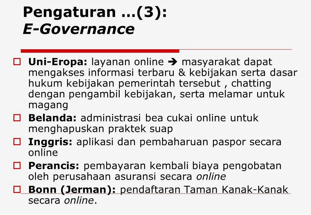 Pengaturan …(3): E-Governance