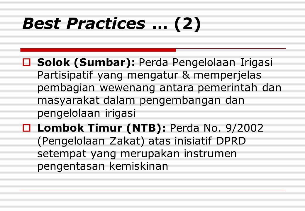 Best Practices … (2)