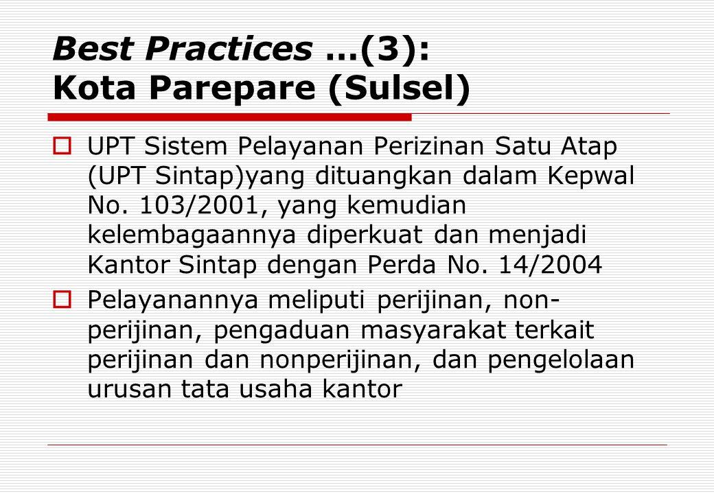 Best Practices …(3): Kota Parepare (Sulsel)