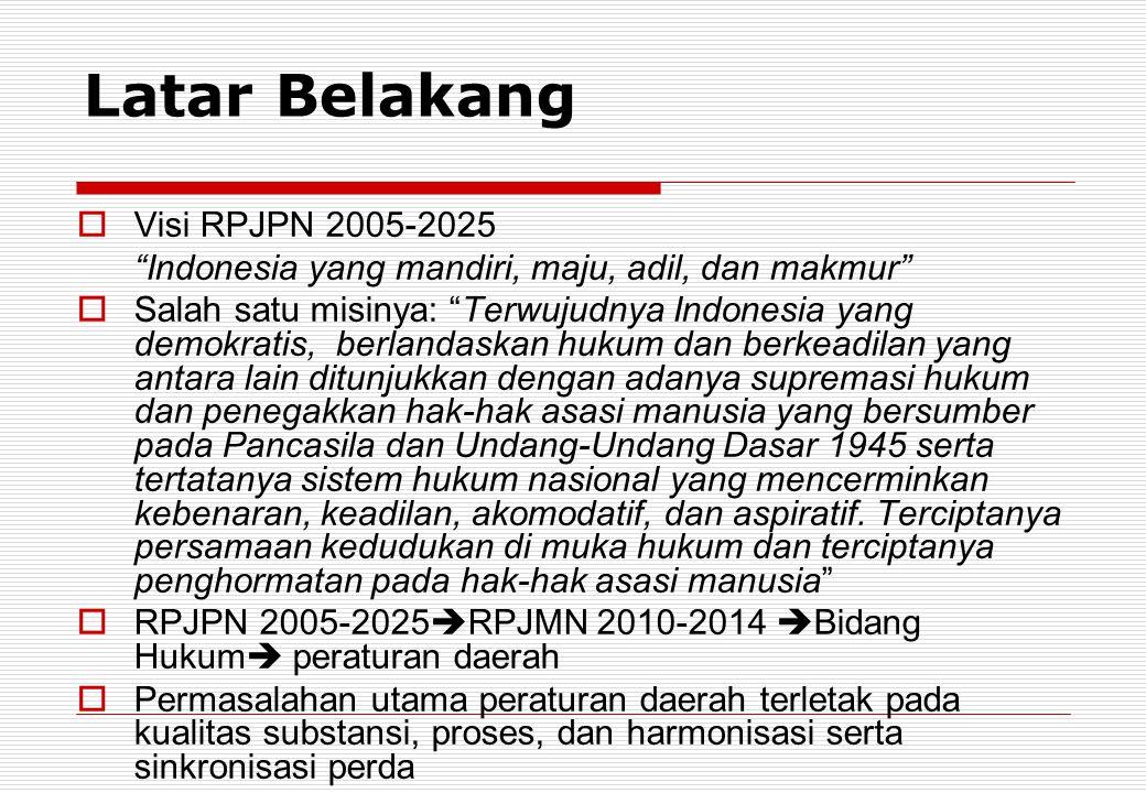 Latar Belakang Visi RPJPN 2005-2025