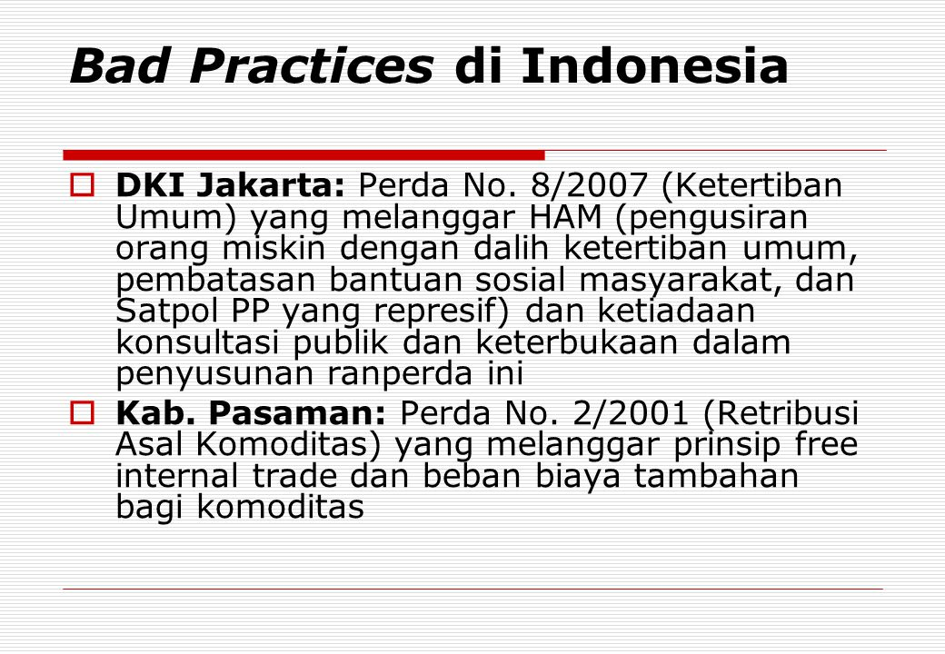Bad Practices di Indonesia
