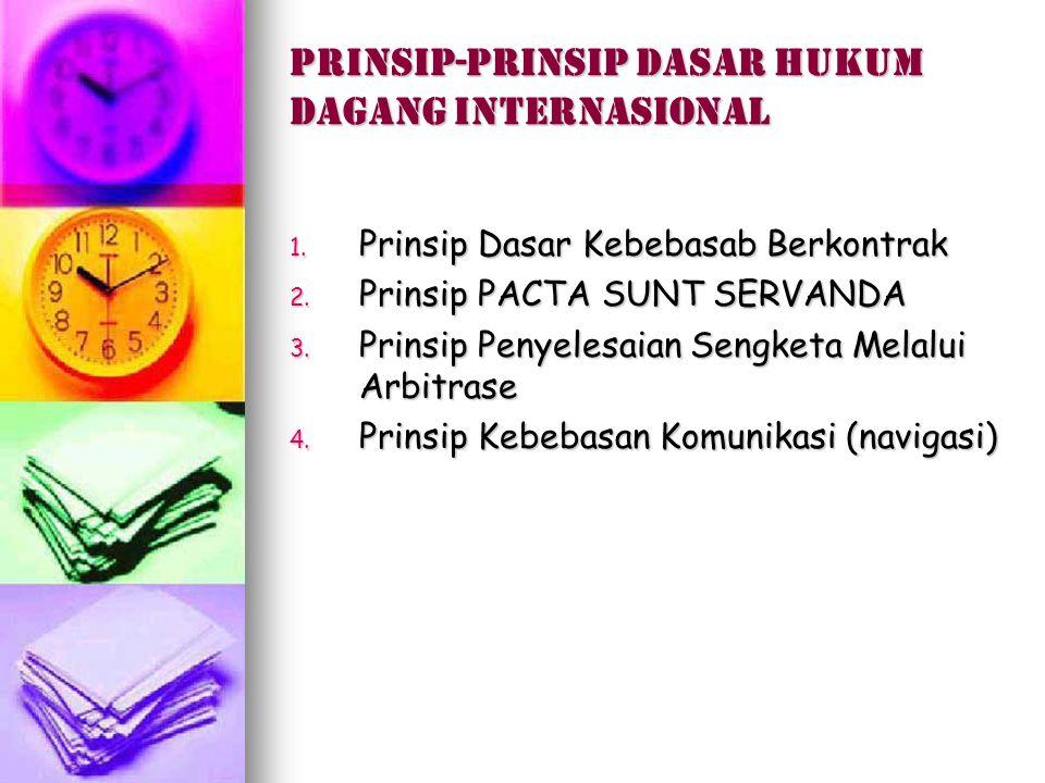 Prinsip-prinsip dasar hukum dagang internasional
