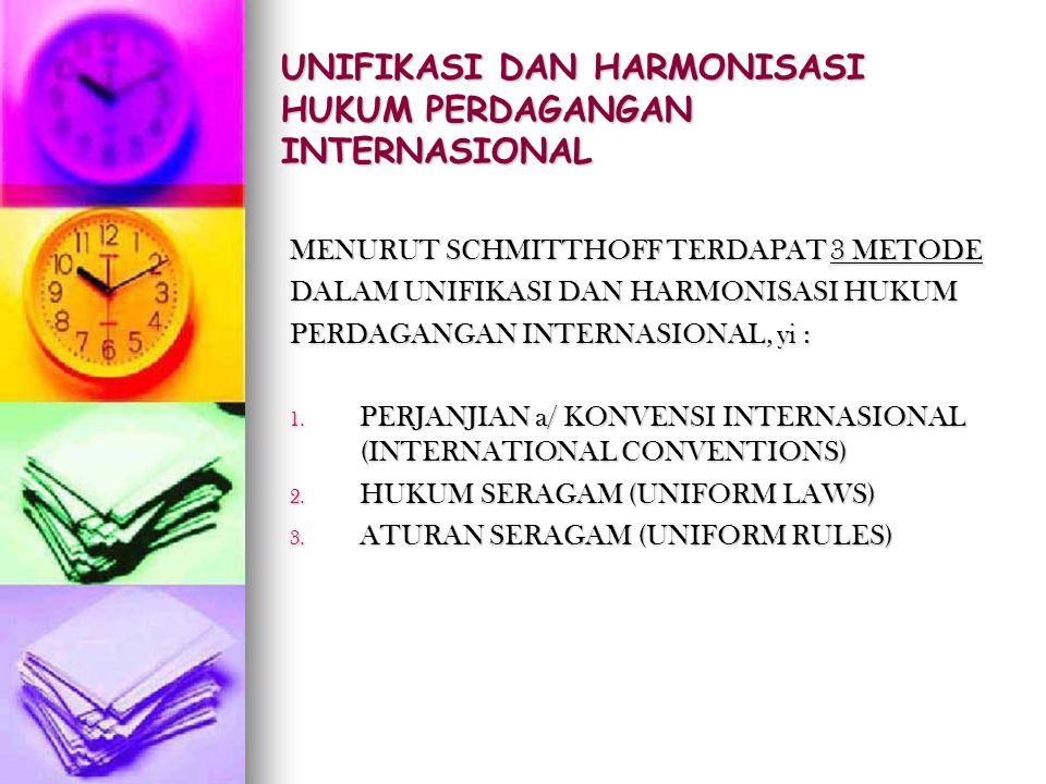 UNIFIKASI DAN HARMONISASI HUKUM PERDAGANGAN INTERNASIONAL
