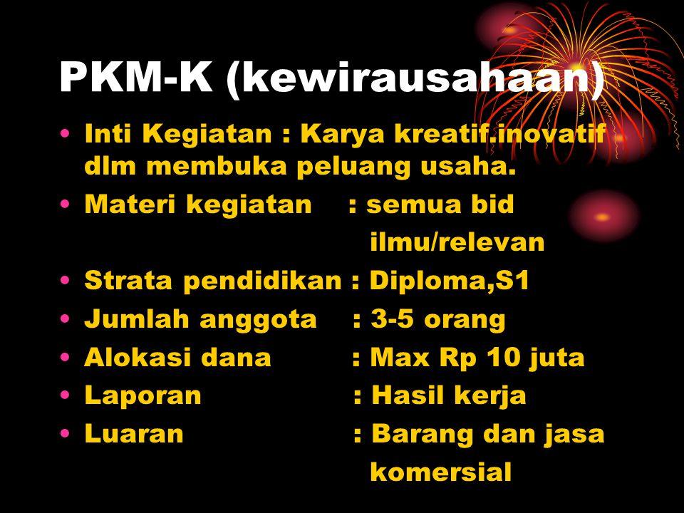PKM-K (kewirausahaan)