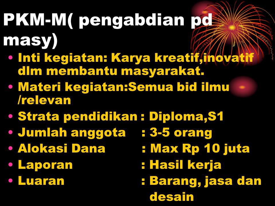 PKM-M( pengabdian pd masy)