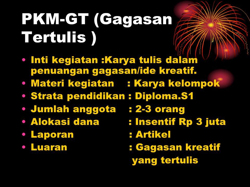 PKM-GT (Gagasan Tertulis )