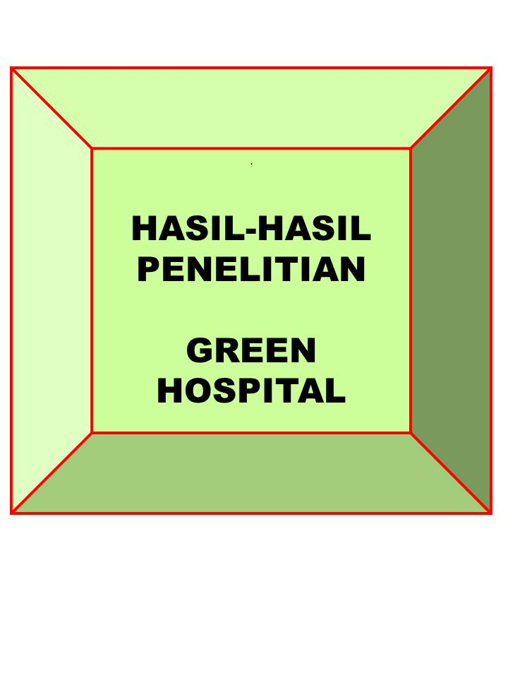 HASIL-HASIL PENELITIAN GREEN HOSPITAL