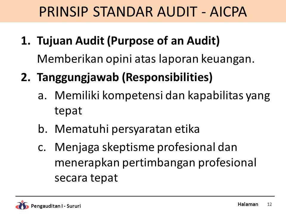 PRINSIP STANDAR AUDIT - AICPA