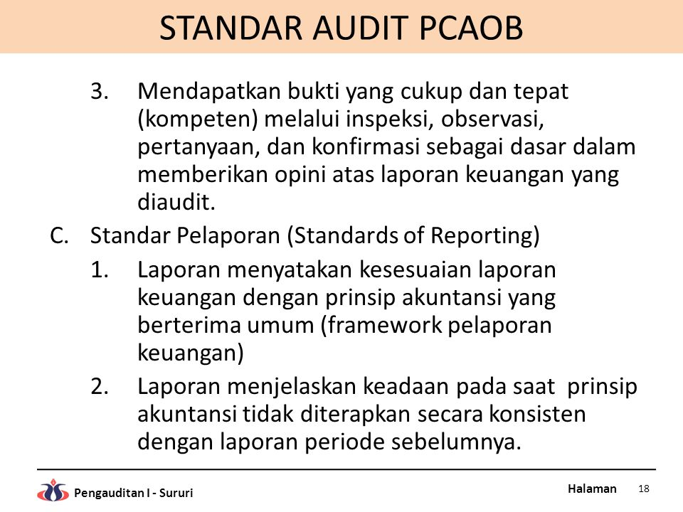 STANDAR AUDIT PCAOB
