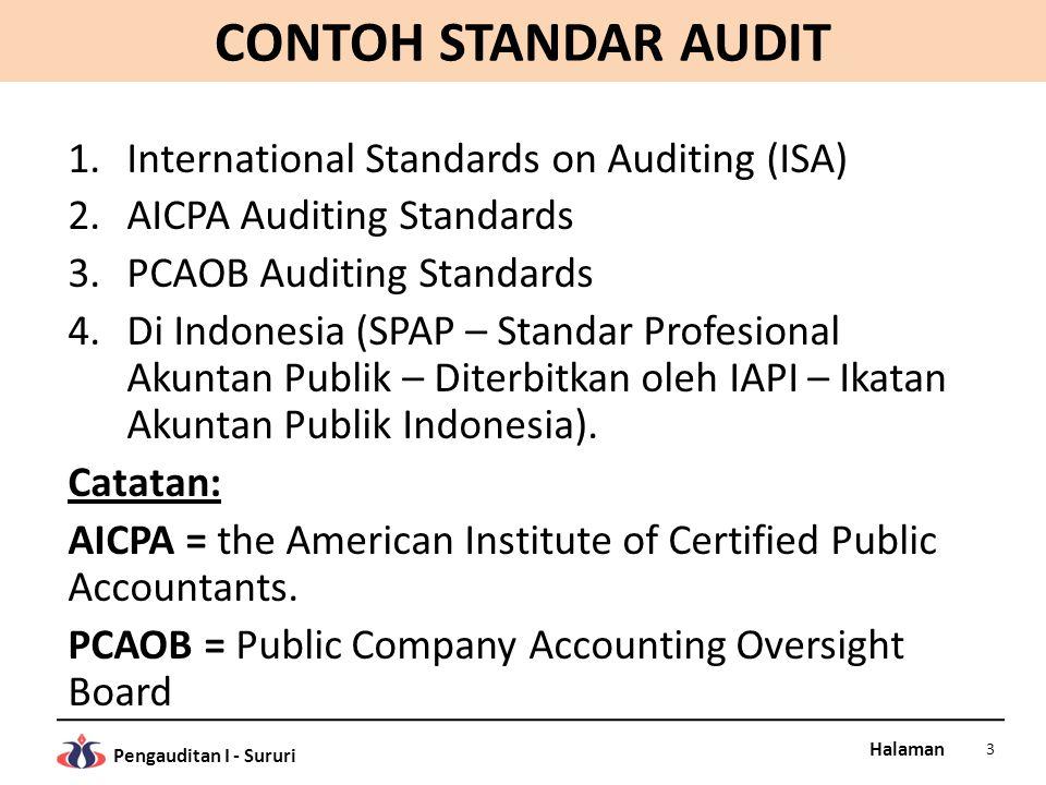 CONTOH STANDAR AUDIT International Standards on Auditing (ISA)