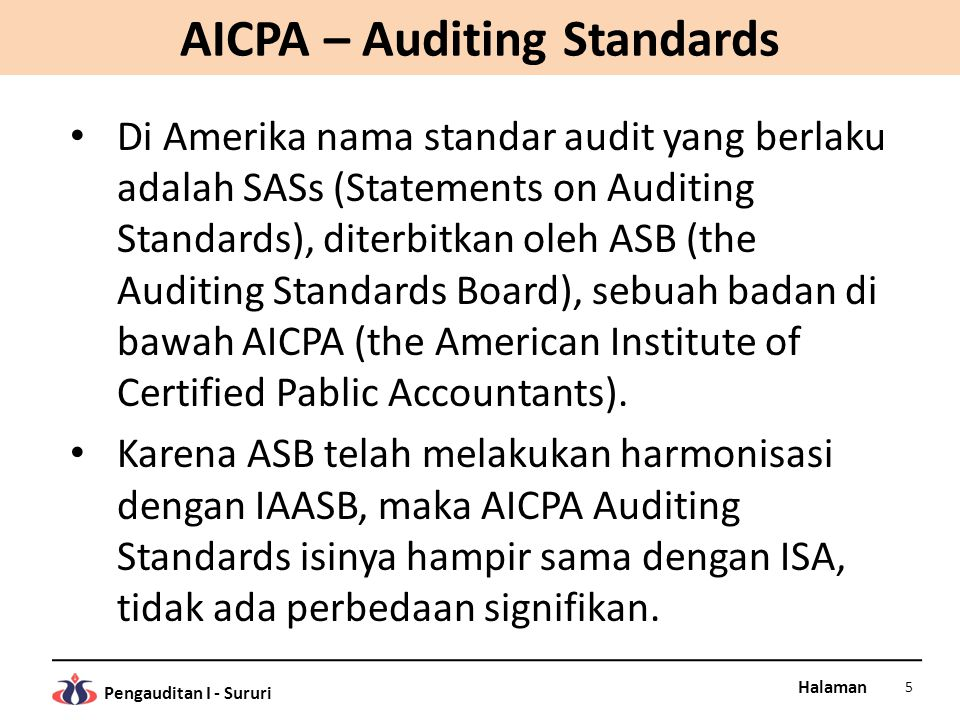 AICPA – Auditing Standards