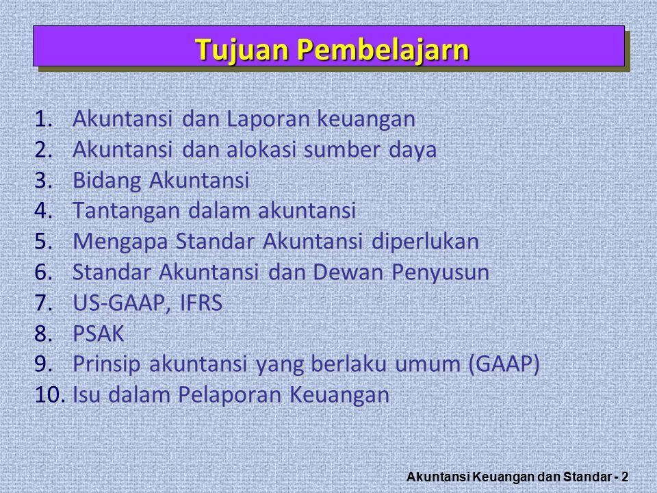 Tujuan Pembelajarn Akuntansi dan Laporan keuangan